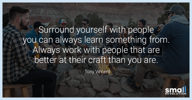 Tony Vincent quote on work life balance and growth