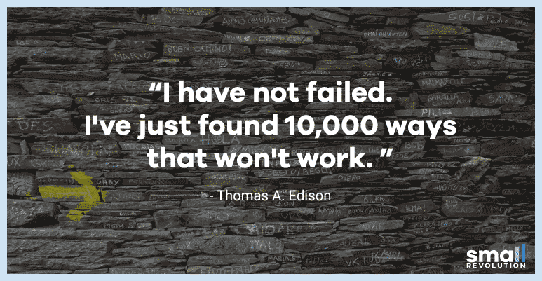 Thomas A. Edison motivational quote