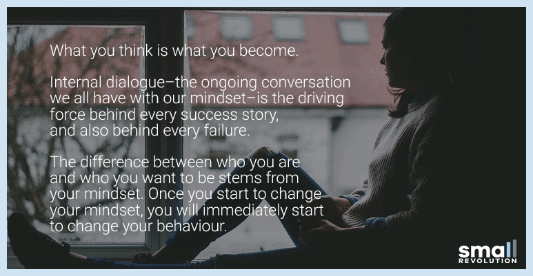 Mindset quote - what you think is what you become