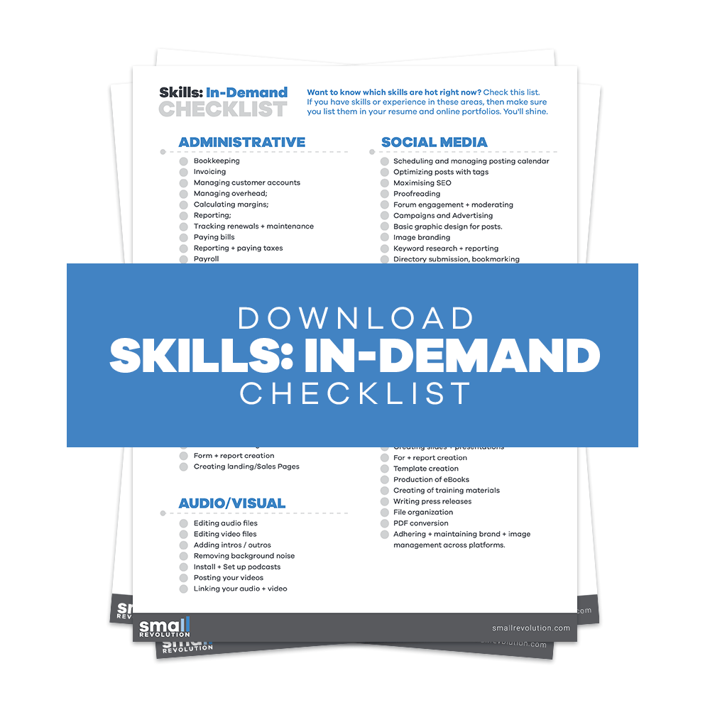 Skills In Demand Checklist