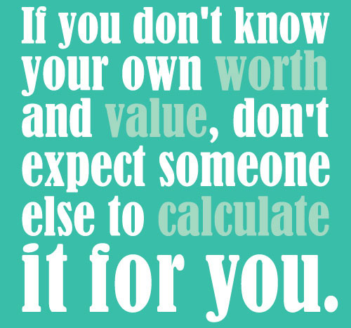 self worth motivational quote