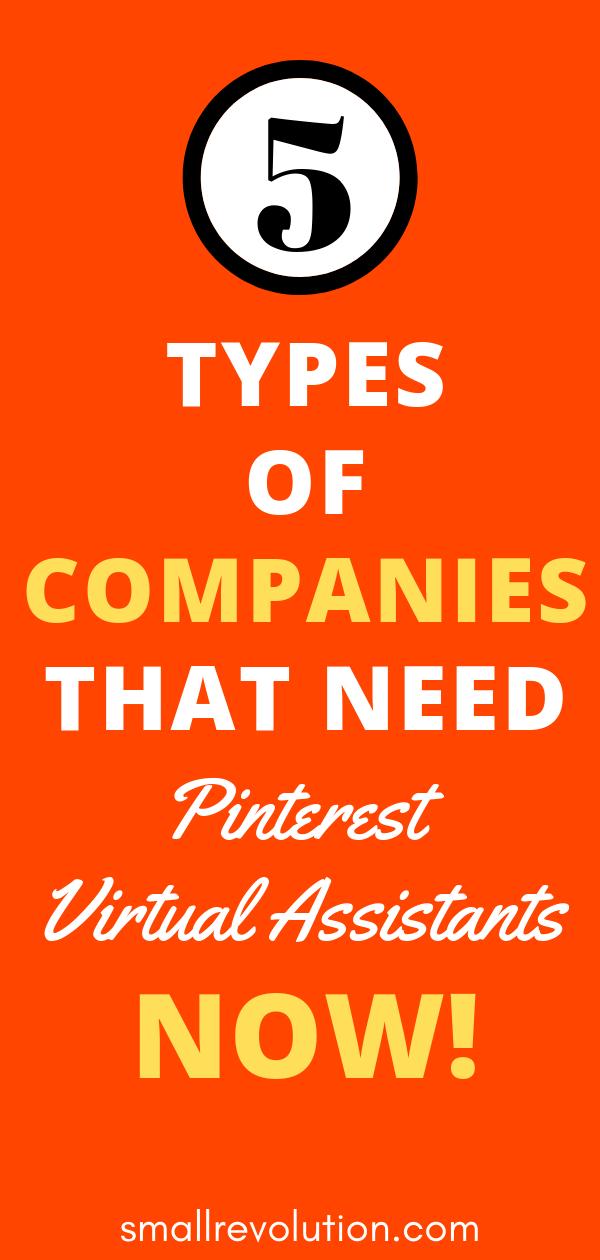 5 types of companies that need Pinterest VA's now