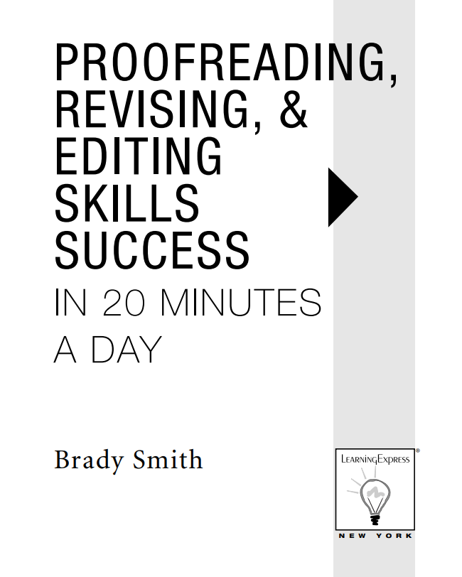 Brady Smith proofreading skills book