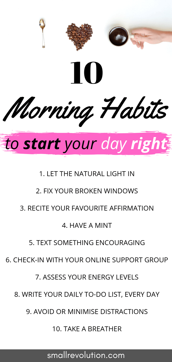 10 morning habits to start your day right