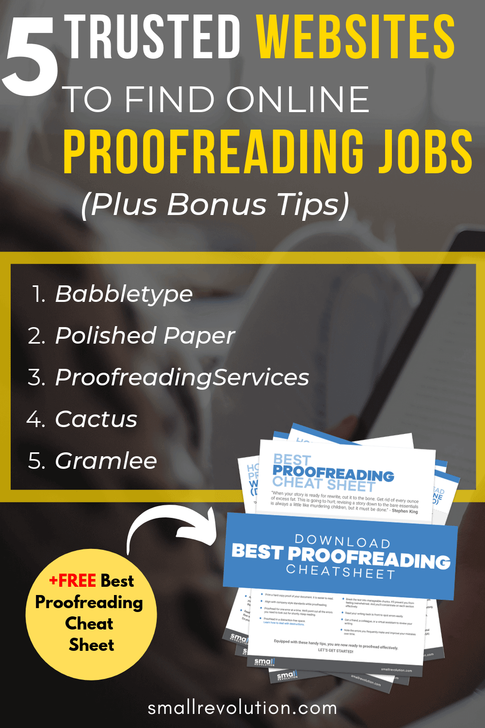 5 trusted websites to find online proofreading jobs