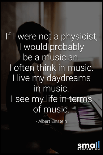 Albert Einstein music quote