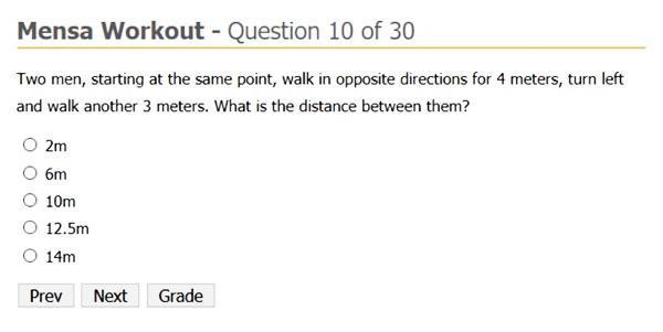 Mensa workout IQ test