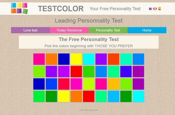 free personality test color