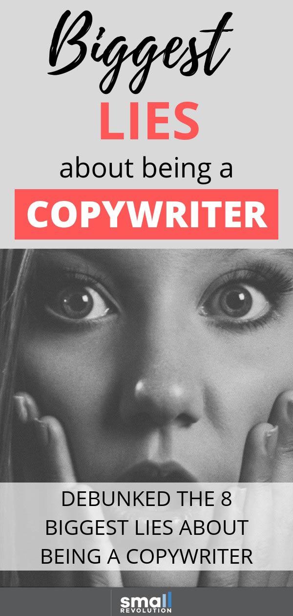 Biggesr lies about being a copywriter