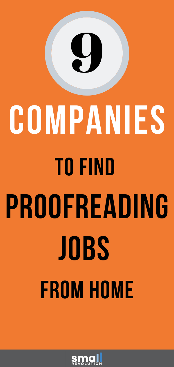 9 companies to find proofreading jobs from home