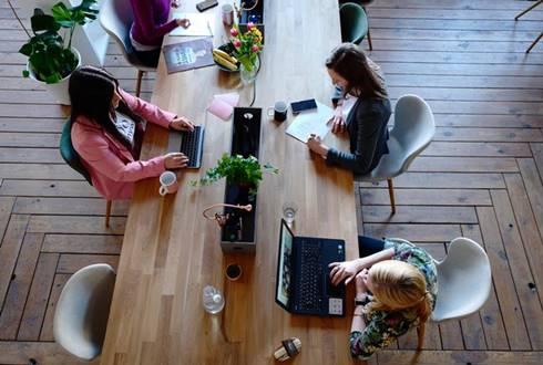 busy women working