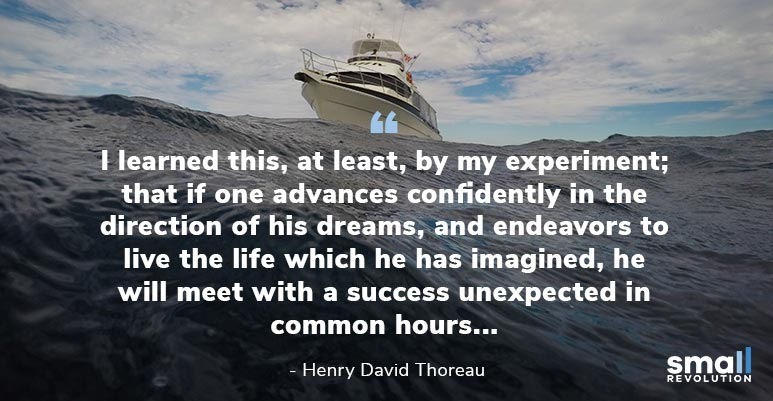 Henry David Thoreau inspirational quote