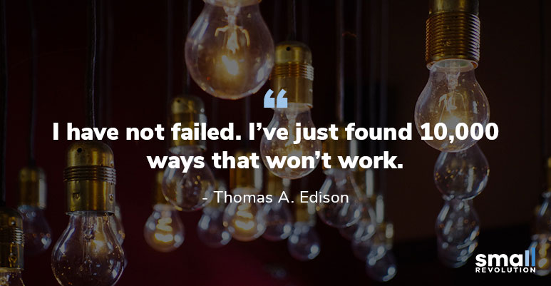 Thomas A. Edison quote