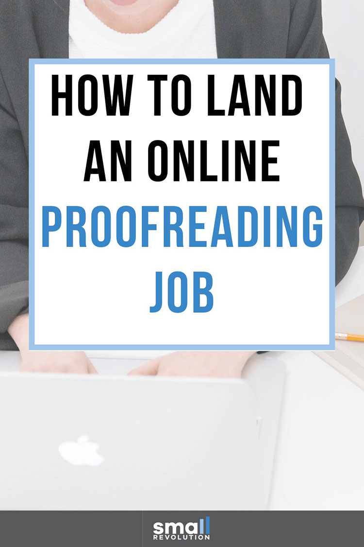 How to land an online proofreading job