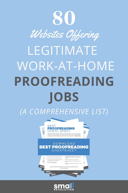 80 websites offering legitimate work-at-home proofreading jobs