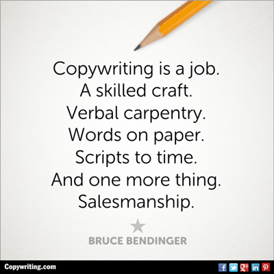 Copywriting is a job quote