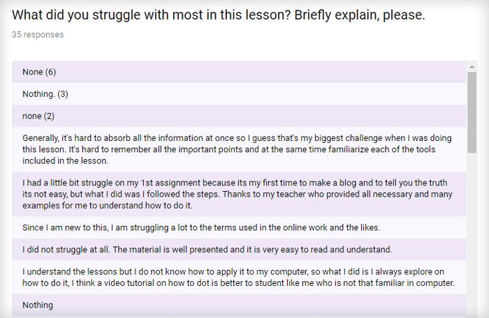student struggle survey