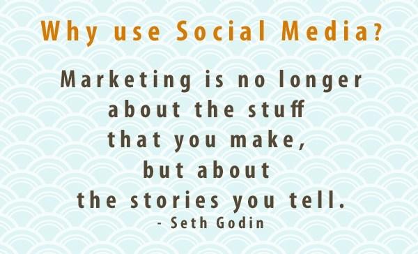 why use social media post by Seth Godin