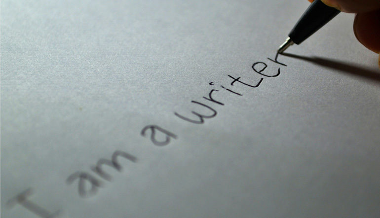 Writer written on the paper