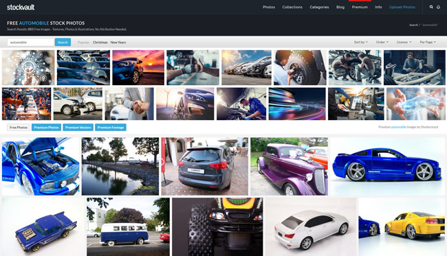 screenshot of different cars