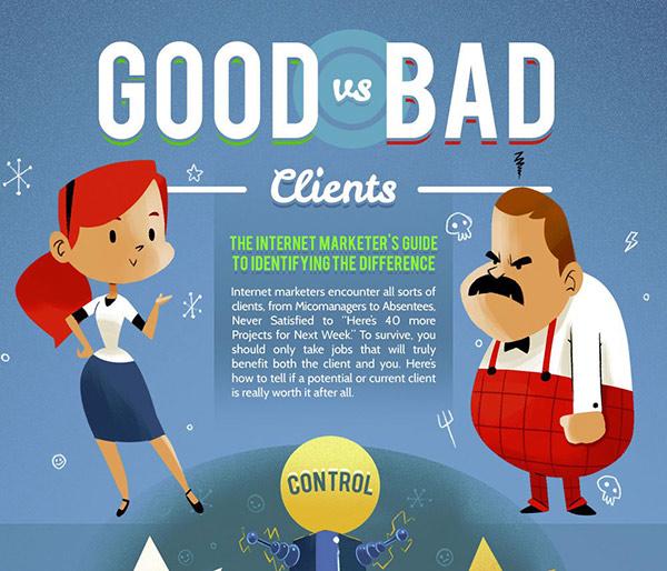 Good vs Bad Clients infographics