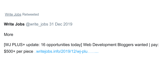 write jobs retweeted
