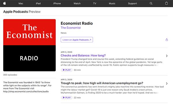 Apple Podcasts - Economist Radio