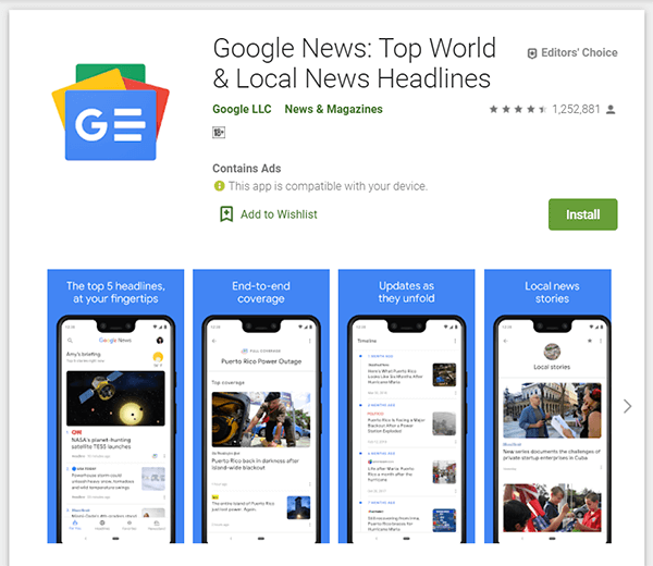 Download Google News App