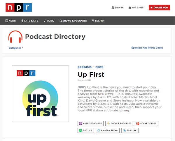 NPR Up First News