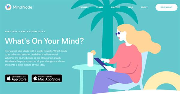 MindNode 6 homepage