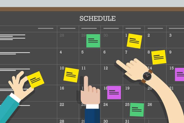 Work schedule management