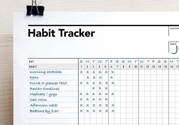 sample habit tracker