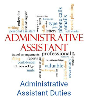 administrative assistant duties graphic illustration