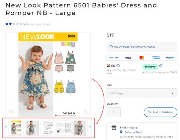 Babies' Dress and Romper