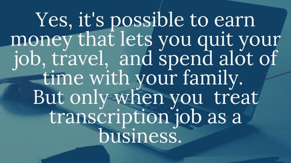 online job transcription