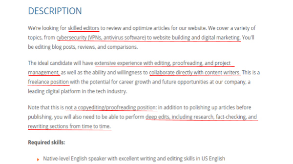 content editor role