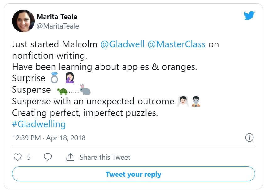 Marita Teale twitter post