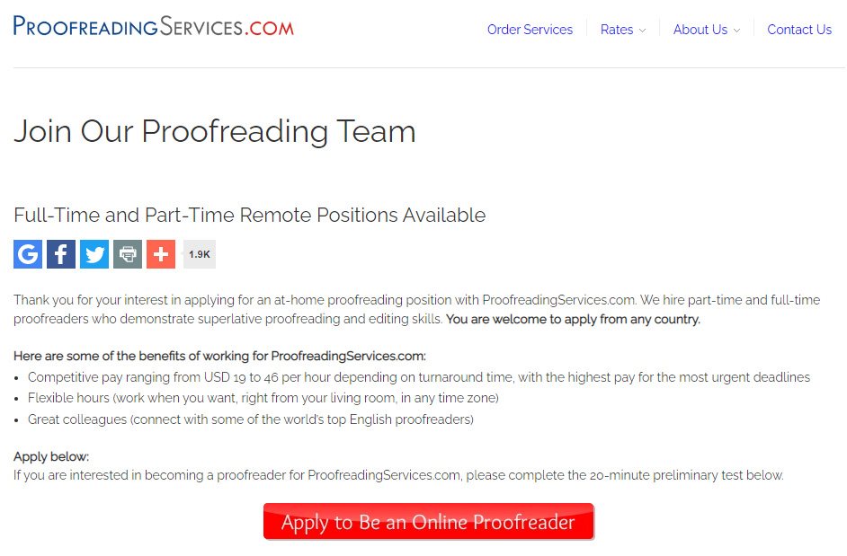 Join Our Proofreading Team